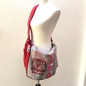 Pink Victoria Secret Large Cotton Bag Messenger